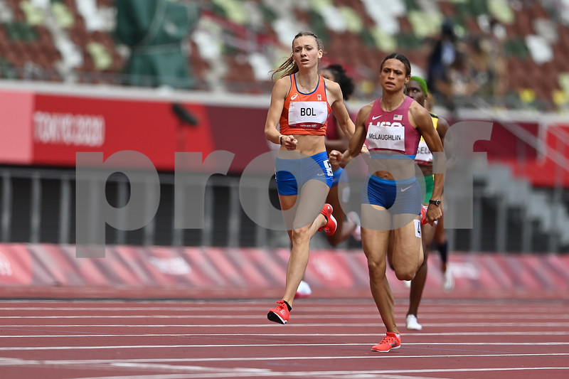 TOKYO, JAPAN - August 4:  Women's 400m Hurdles Final at the Tokyo 2020 Olympic Games at the Olympic Stadium on August 4, 2021 in Tokyo, Japan (Photo by Andy Astfalck/Orange Pictures)