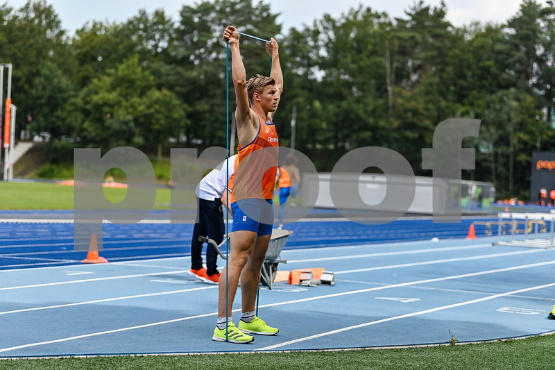 PAPENDAL, NETHERLANDS - JULY 8 Nick Smidt of the Netherland during an training at the Press presentation of the olympic team of the Dutch Athletics Federation at the Papendal Athletics track on July 8, 2021 in Papendal, Netherlands (Photo by Andy Astfalck Orange Pictures)