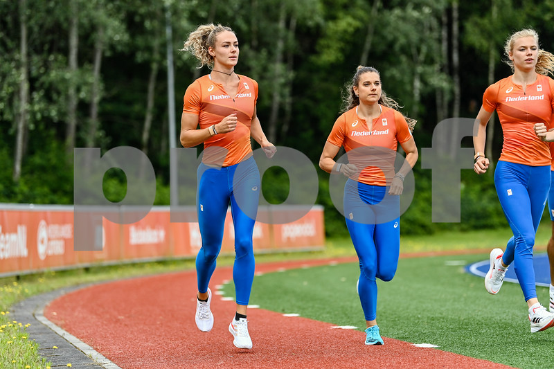 PAPENDAL, NETHERLANDS - JULY 8 Lieke Klaver of The Netherlands during an training at the Press presentation of the olympic team of the Dutch Athletics Federation at the Papendal Athletics track on July 8, 2021 in Papendal, Netherlands (Photo by Andy Astfalck Orange Pictures)