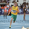 MELBOURNE, AUSTRALIA - FEBRUARY 09: <br /> <br /> Hartmann, Alex from Australia running in the mixed 4x400m Relay during the Nitro Athletics at Lakeside Stadium on February 9, 2017 in Melbourne, Australia.