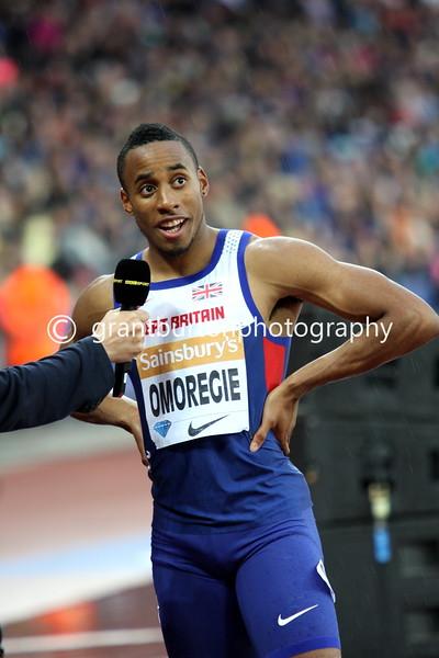 Sainsbury's Anniversary Games – IAAF Diamond League, London, UK -24th July 2015.