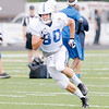 Don Knight/The Herald Bulletin<br /> Tight end Coby Fleener runs his route during Colts practice practice at Anderson University on Wednesday.
