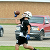 Cumberland wide receiver Ryan Yaw looks the ball into his hand on a one-handed catch.