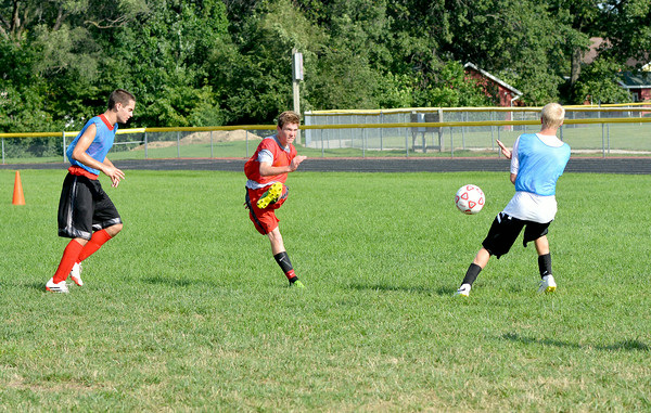 St. Anthony's Donovan Hammer hits a shot during practice  at Bulldog Field.