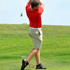Effingham's Jake Linders tees off on the first hole at the St. Anthony Invitational at Fox Prairie Golf Course in Windsor.