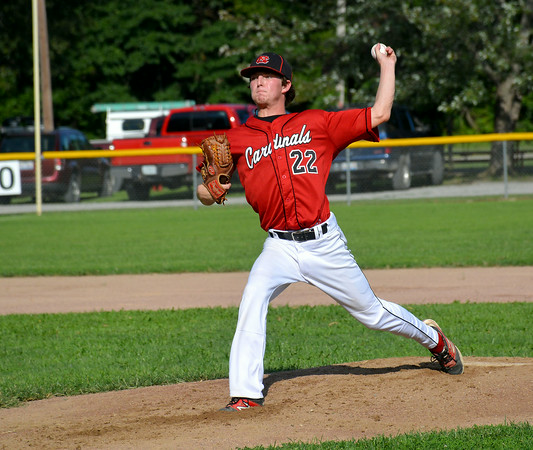 North Clay's Braden McNeely delievers a pitch during the first inning of the Cardinals' 6-0 win over St. Anthony.