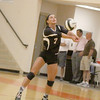 Brooke Montgomery receives a serve in a match last season. Montgomery will be one of the senior leaders on the Lebanon volleyball team this fall.