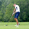 Teutopolis' Christian Deters takes his tee shot on the third hole at Fox Prairie Golf Course.