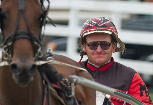 Michael Rogers smiles after finishing a race at the Effingham County Fair.