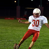 Effingham's Danny Hortenstine practices his kickoffs during the Buck Bowl.