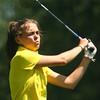 8-1-12<br /> Girls High School Golf - Kokomo Invitational<br /> Northwestern's Olivia McClure teeing off 4.<br /> KT photo | Tim Bath