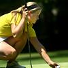 8-1-12<br /> Girls High School Golf - Kokomo Invitational<br /> Northwestern's Libby Hansen getting ready to putt on 6.<br /> KT photo | Tim Bath