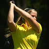 8-1-12<br /> Girls High School Golf - Kokomo Invitational<br /> Northwestern's Libby Hansen teeing off 7.<br /> KT photo | Tim Bath