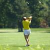 8-1-12<br /> Girls High School Golf - Kokomo Invitational<br /> Northwestern's Libby Hansen teeing off 6.<br /> KT photo | Tim Bath