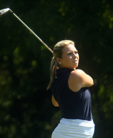 8-1-12<br /> Girls High School Golf - Kokomo Invitational<br /> Kokomo's Ann Marie Balsbach teeing off 7<br /> KT photo | Tim Bath