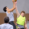 "Saints players, Trent Dennis, left, and Jack Newnes,  work during a scrimmage in Thursday's practice.<br /> The St. Kilda Saints, a prominent Australian Rules Football team, is working out in Boulder this winter.<br />  For a video and more photos of practice, go to  <a href=""http://www.dailycamera.com"">http://www.dailycamera.com</a>.<br /> Cliff Grassmick  / December 6, 2012"