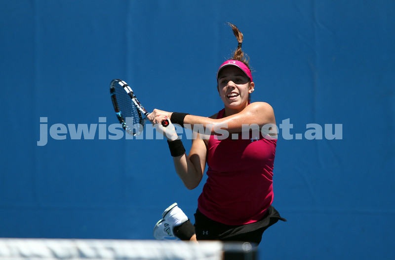 Australian Open Qualifiers 2013. January 10. Olga Savchuk (UKR) def Sharon Fichman (CAN) 6-4, 7-6. Photo: Peter Haskin