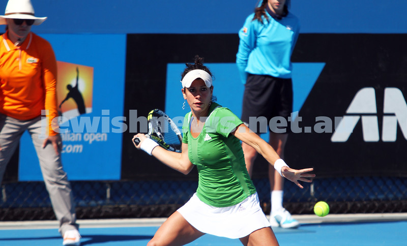 Australian Open Qualifiers 2013. January 10. Kurumi Nara (JPN) def Julia Cohen (USA) (9) 6-0, 6-1. Photo: Peter Haskin