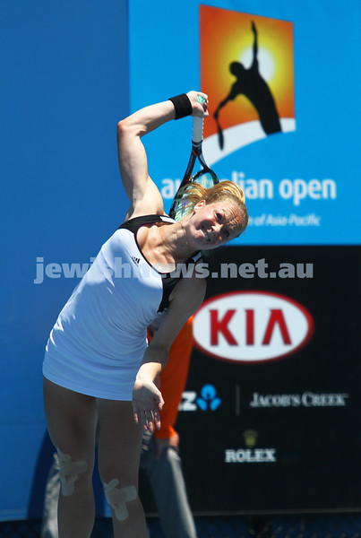 Australian Open Qualifiers 2013. January 10. Julia Glushko (ISR) def Mariana Duque-Marino (COL) [23] 6-2 4-6 7-5. Photo: Peter Haskin