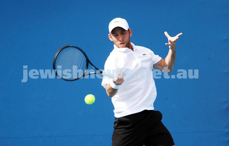 Australian Open Qualifiers 2013. January 10. Dudi Sela (ISR) (3) def Igor Kunitsyn (RUS)  6-2 6-3. Photo: Peter Haskin