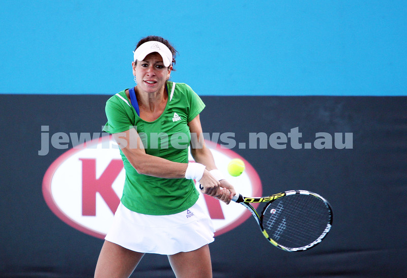 Australian Open Qualifiers 2013. January 10. Kurumi Nara def Julia Cohen (9) 6-0, 6-1. Photo: Peter Haskin