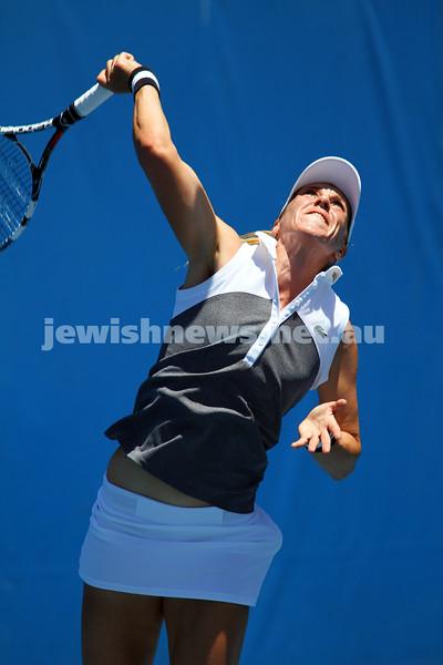 Australian Open Qualifiers 2013. January 10. Olga Savchuk (UKR) def Sharon Fichman (CAN) 6-4, 7-6. Savchuk. Photo: Peter Haskin