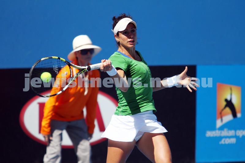 Australian Open Qualifiers 2013. January 10. Kurumi Nara (JPN) def Julia Cohen (USA) (9) 6-0, 6-1. Photo: Peter Haskin