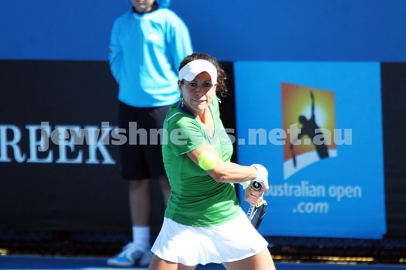 Australian Open Qualifiers 2013. January 10. Kurumi Nara def Julia Cohen (9) 6-0, 6-1. Photo: Peter Haskin