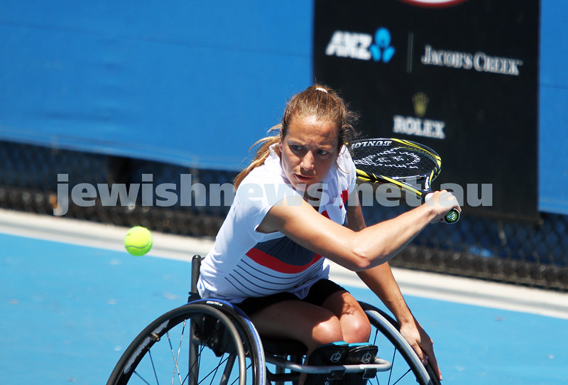 Australian Open 2013. Women's wheelchair singles. Photo: Peter Haskin