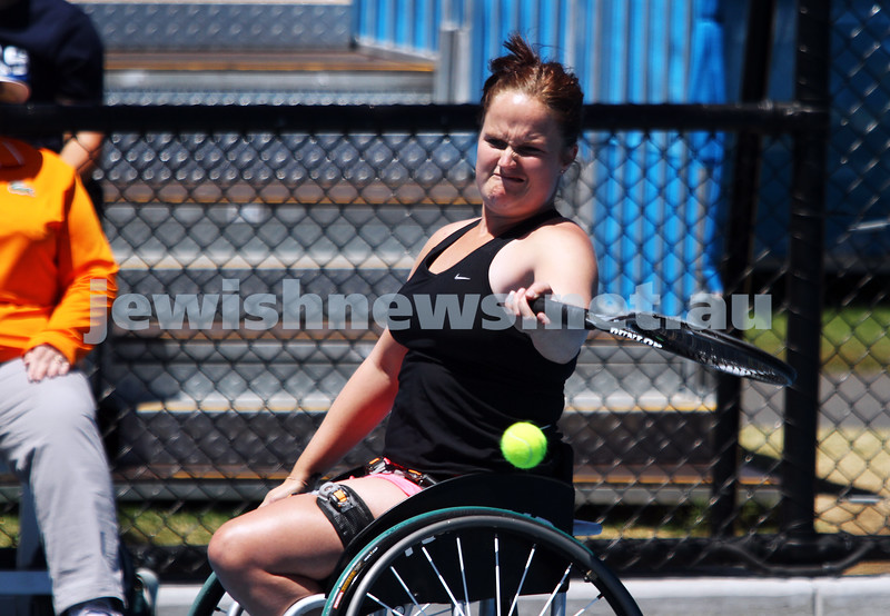 Australian Open 2013. Women's wheelchair singles. Aniek Van Koot (NED). Photo: Peter Haskin