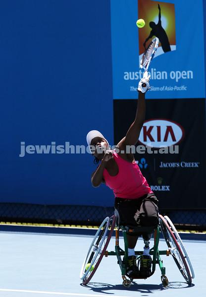 Australian Open 2013. Women's wheelchair singles. Kgothatso Montjane (RSA)). Photo: Peter Haskin