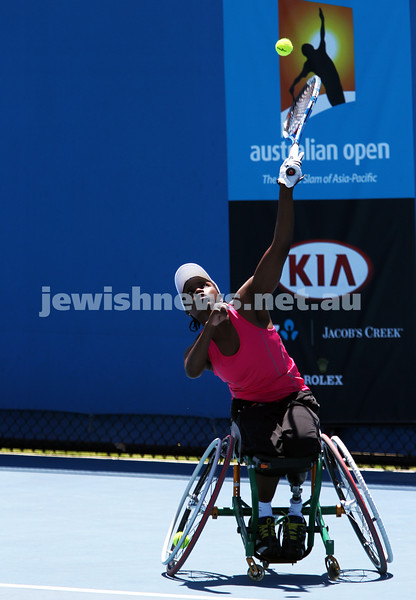 Australian Open 2013. Women's wheelchair singles. Kgothatso Montjane (RSA)). Photo: Peter Haskin