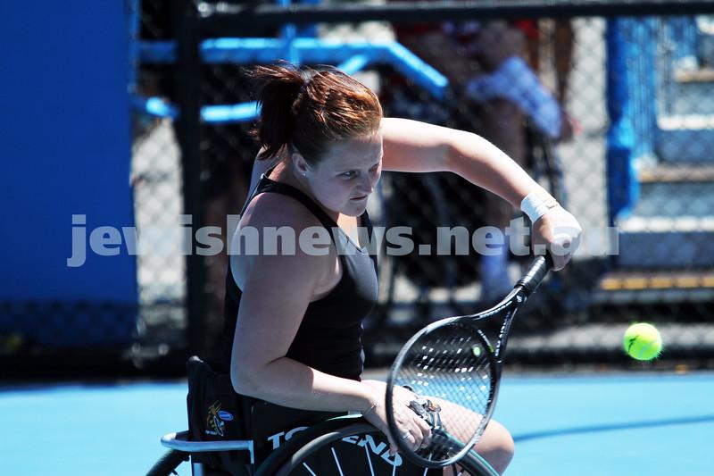 Australian Open 2013. Women's wheelchair singles. Aniek Van Koot (NED). Photo: Peter Haskin
