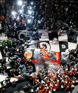 Jamie McMurray and his crew celebrate in victory lane after he won the NASCAR Daytona 500 auto race Sunday, Feb. 14, 2010, at Daytona International Speedway in Daytona Beach, Fla. (AP Photo/Orlando Sentinel, Gary W. Green) ** LEESBURG OUT  LADY LAKE OUT  TV OUT  MAGS OUT  NO SALES  **