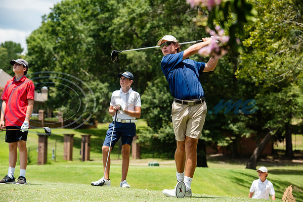 Davis Habermehl of Tyler tees during the Azalea Trail Junior Golf tournament held at Hollytree Country Club in Tyler on Monday, July 20, 2020.