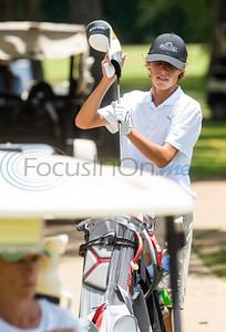 Thomas Aspinall of Southlake put his club away after a putt during the Azalea Trail Junior Golf tournament held at Hollytree Country Club in Tyler on Monday, July 20, 2020.