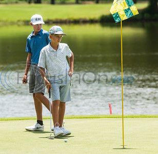 Shea Sethre-Brink of Dripping Springs waits to putt during the Azalea Trail Junior Golf tournament held at Hollytree Country Club in Tyler on Monday, July 20, 2020.