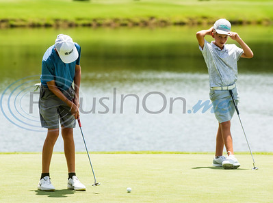 Brady Holmes of Amarillo putts during the Azalea Trail Junior Golf tournament held at Hollytree Country Club in Tyler on Monday, July 20, 2020.