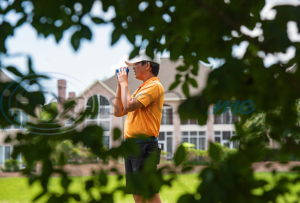 Maxwell Chan of Heath takes a look from his next tee during the Azalea Trail Junior Golf tournament held at Hollytree Country Club in Tyler on Monday, July 20, 2020.