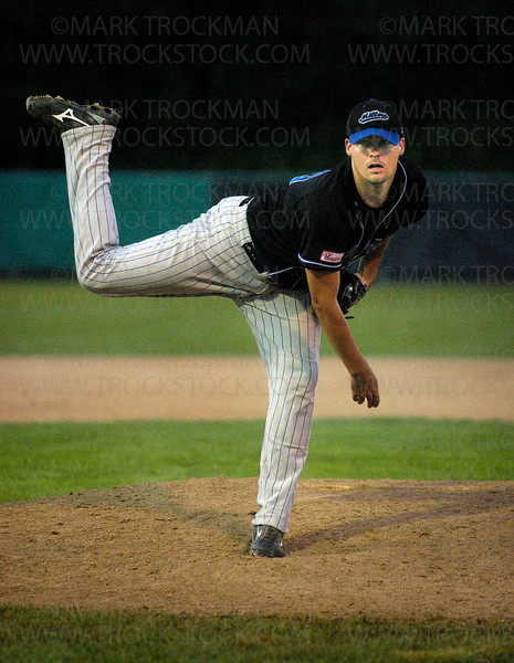 Minnetonka's C.J. Woodrow didn't have a great outing against Edina as he went 6.0 innings, allowing 14 hits and seven earned runs.  Minnetonka beat Edina 18-8 to complete a perfect Riverview season Wednesday, July 16 at Braemar Park in Edina.
