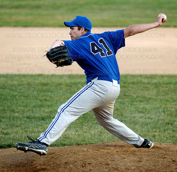 Wayzata pitcher Nick Anderson, who recently completed his freshman season at Concordia-St. Paul, went all five innings, throwing no-hit ball and walking two while striking out six in Wayzata's 13-0 win against St. Louis Park Wednesday, July 2 at Dakota Fields.