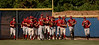 Clarke Rams Baseball team heads onto the Hofstra baseball field. The game had a delayed start because of problems with the Clarke bus.  CHS vs Island Trees, May 30th, 2007, 5-9. Photo by Kathy Leistner