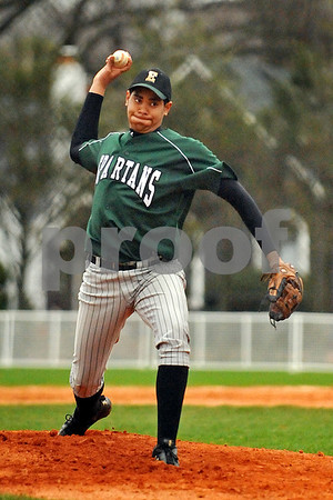 1151 #9 Marcos Pimentel on the mound.  VSCHS vs Elmont HS. April 7th, 2009. Photo by Kathy Leistner.
