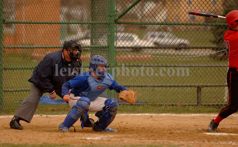 Catcher, Senior Dan Wakeford. MHS vs Wheatley, Apri 13th, 2007. Photo by Kathy Leistner