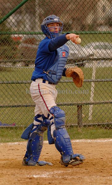 Catcher Daniel Wakeford, MHS. Apri 14th, 2007. MHS vs Wheatey. Photo by Kathy Leistner