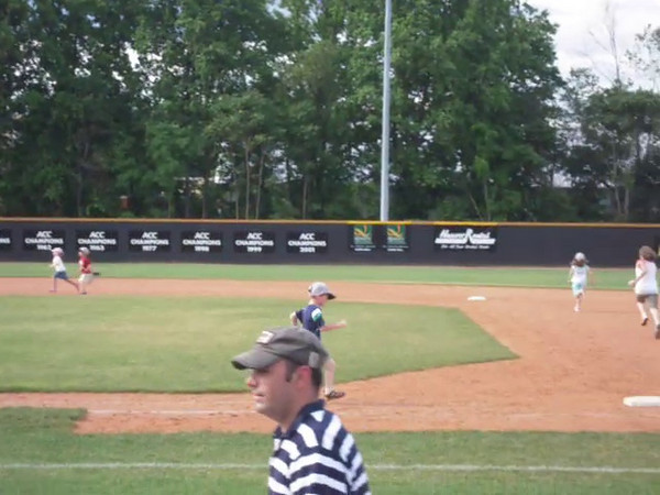 Brandon running the bases at Wintson Salem