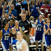 Record-Eagle/Jan-Michael Stump<br /> Adrian Lenawee Christian players celebrate their 54-39 win over Central Lake in the state Class D semifinals Thursday at the Bresling Student Events Center in East Lansing.