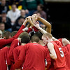 Record-Eagle/Jan-Michael Stump<br /> Suttons Bay players huddle before the start of Saturday's game against Melvindale ABT in the Class C state championship game at the Breslin Center in East Lansing.