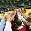 Record-Eagle/Jan-Michael Stump<br /> Suttons Bay players huddle following their loss to Melvindale ABT in the Class C state championship game Saturday at the Breslin Center in East Lansing.