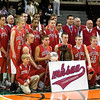 Record-Eagle/Jan-Michael Stump<br /> Suttons Bay poses for a team picture following their 59-43 loss to Melvindale ABT in the Class C state championship game Saturday at the Breslin Center in East Lansing.